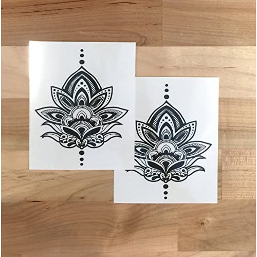 60 Off Henna Lotus Tattoo Set Of 2 S406263526 Onlinehome Us