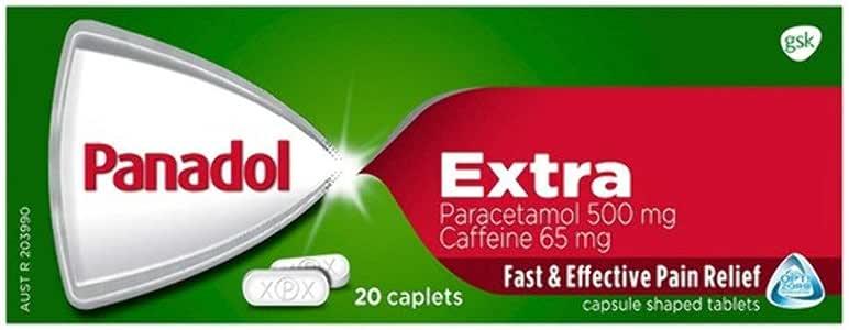Panadol Extra with Optizorb Paracetamol Pain Relief, 20 count