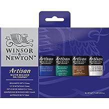 Winsor & Newton Artisan Water Mixable Oil Color 6-Tube Beginner Set, 37ml