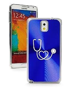 Samsung Galaxy Note 3 III Blue 3F210 Aluminum Plated Hard Case Heart Stethoscope Nurse Doctor