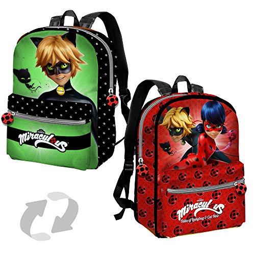 - Miraculous Ladybug / Cat Noir Reversible Backpack With Pocket 38cm