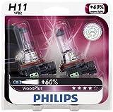 09 impala car headlights - Philips H11 VisionPlus Upgrade Headlight Bulb, 2 Pack