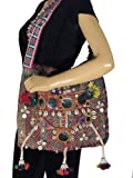 Tribal Gypsy Crossbody Bag Stylish Tassel Vintage Mirror Work Trendy Women Style