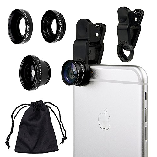 3 in 1 Macro/Fish-eye/Wide Universal Clip Lens (Black) - 3