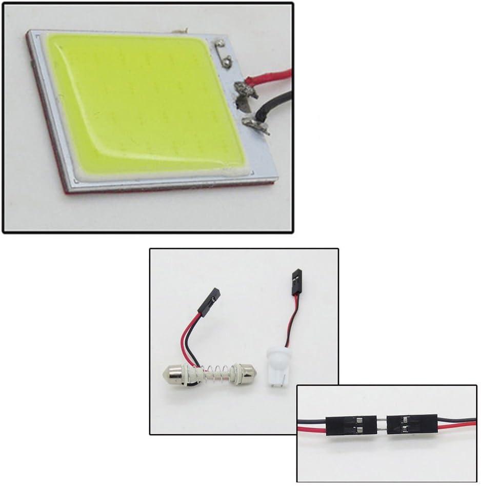 T10 3W COB Panel Lights LED Car Interior 12V Lamp Bulb Dome White Light