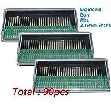 (US) PHYHOO 90 Pcs Diamond Burr Bits Drill Glass Gemstone Metal for Dremel Craftsman Rotary Tool