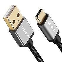 UGREEN Cavo USB Tipo C, Cavo di Ricarica Rapida Cavo C Cavo Type C Cavo Dati in Nylon Intrecciato per Samsung Galaxy S9/S9 Plus/S8/S8 Plus, Huawei P20 /P20 Lite/P10/P10 Plus/Mate 10/Honor 9, LG V30/V20/G6/G5, GoPro Hero 6/5, Nintendo Switch etc.