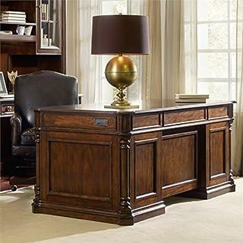 Amazon.com : Hooker Leesburg Executive Desk in Mahogany : Office ...