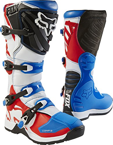 Youth Off-Road Motorcycle Boots - Blue/Red/Size 2 (2 Off Road Boot)