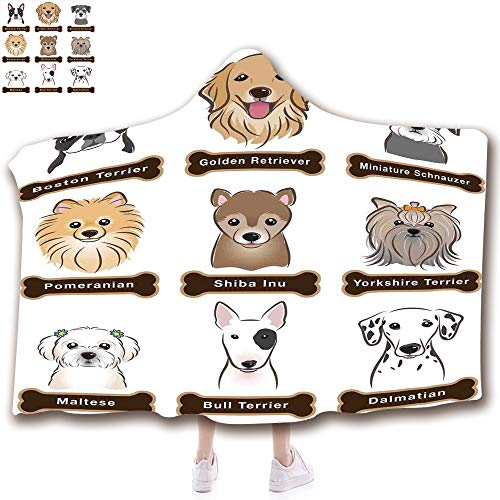 Fashion Blanket Ancient China Decorations Blanket Wearable Hooded Blanket,Unisex Swaddle Blankets for Babies Newborn by,Dogs Nameplate Boston Terrier domestic animal,Adult Style Children Style