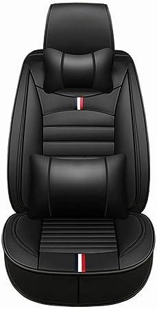 Autositzbezüge Leder Set 5 Sitzer Auto Universal Leder Motion Voller Satz Von Vier Jahreszeiten Pad Kompatibel Mit Airbag Kissen Farbe Schwarz Auto