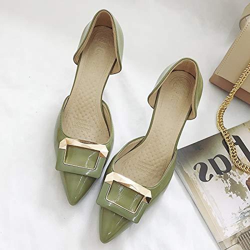 MLGSDW donna fresco profondo Sevengreen Scarpe con Scarpe con basso New poco Kollow scarpe Baotou tacco sottile tacco da tacco alto shoesthirty rRCqArwS