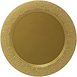 Posh Setting Gold Charger Plates Hammered Design Medium Weight 13 inch Round Plastic Chargers 10 pack  sc 1 st  Amazon.com & Amazon.com: Plastic - Charger u0026 Service Plates / Plates: Home u0026 Kitchen