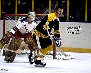 "Ken Hodge Boston Bruins Autographed 16"" x 20"" vs. New York Rangers Photograph with 70-72 SC Champs Inscription - Fanatics Authentic Certified"