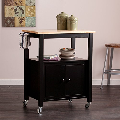 Harper Blvd Kitney Black Kitchen Cart, Contains two (2) drawers for additional storage (Origami Rolling Trolley Table compare prices)