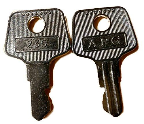 - APG Cash Drawer VPK-8K-235 2 Key Set Type 235 for the Vasario Cash Drawer