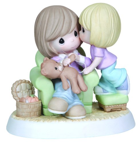 Precious Moments, Mom, You're Sew Wonderful, Bisque Porcelain Figurine, 124001