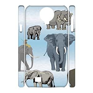 YCHZH Phone case Of Cute elephant Cover Case For Samsung Galaxy S4 i9500