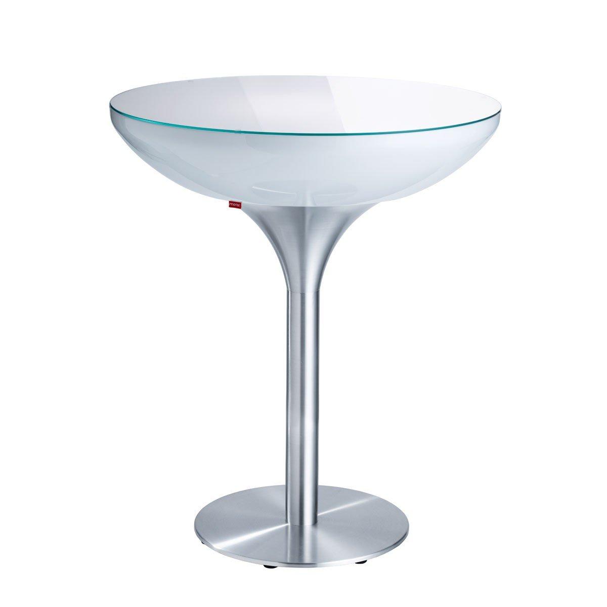 moree Lounge Tisch Lounge 105, Metallisch/Weiß, Aluminium/ Kunststoff, 07-05-03