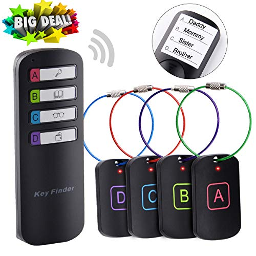 Key Finder, Mitcien Item Tracker Item Locator, Wireless RF Anything Finder, Key Finder Locator Wallet Finder 1 RF Transmitter and 4 ()