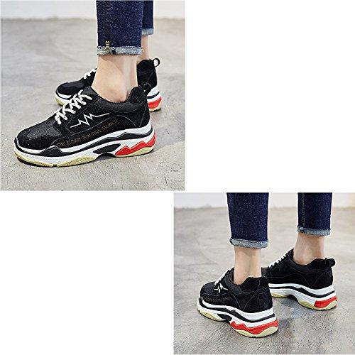 Tamaños Negro Liangjun Zapatos Fondo Grueso Al Eu36 5 Primavera Mujer De 5 Deportes Disponibles Zapatillas Tamaño 230mm l 3 Negro color Colores Aire Libre uk4 Invierno OACwOqU