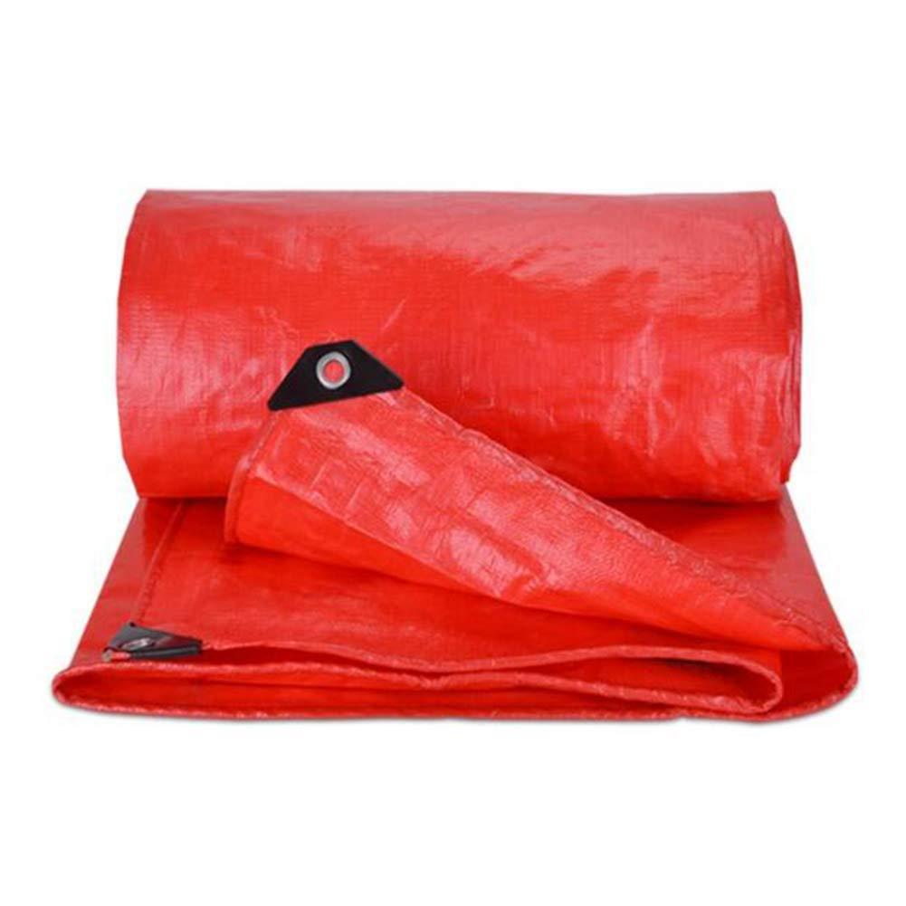 DALL ターポリン 耐寒性 タープ 防水 シートカバー 接地 アウトドア オーニング サンシェード (色 : Red, サイズ さいず : 8*8m) 8*8m Red B07KV9KXV1
