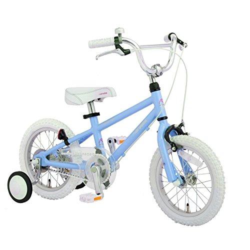 【完全組立出荷】Arcoba 子ども用自転車 2018年モデル14インチ arcoba アルコバ 子供用自転車 幼児車 TEKTROブレーキホワイトパーツ ハイクオリティー子ども用自転車 補助輪付 子供  可愛い 入学祝い 小学校 女の子 入園祝い  ブルー B06XCXS18D