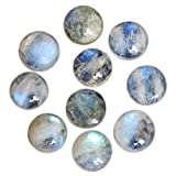 23MM Round Shape, Rainbow Moonstone, Blue Fire Cabochon, Calibrated Cabochons, Natural Gemstone