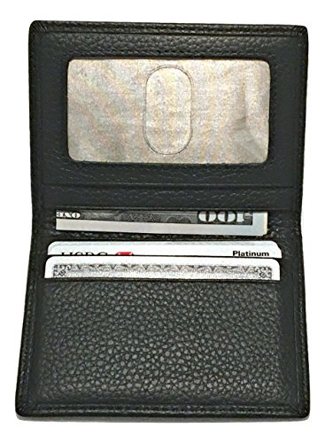 ng Front Pocket Wallet & Card Holder Protector Slim Bi-Fold (black) (Simple Card Holder)