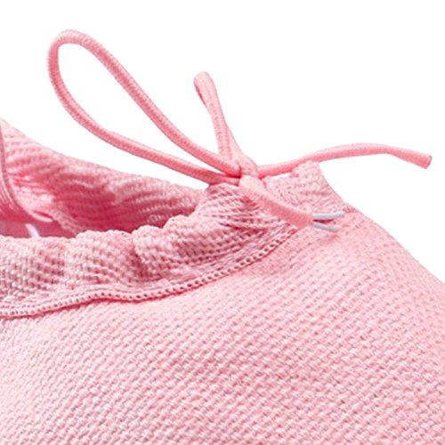 Ballettschuhe Canvas Mädchenschuhe Rosa Ballett Mädchen Panegy Rosa Tanzschuhe Schläppchen 5qO61t