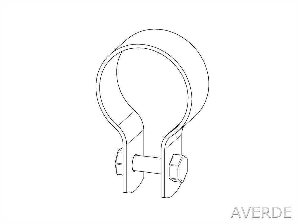 AVERDE Klemmring, Leichte Ausführung, 1 1/2 (48,3 mm) Leichte Ausführung 1 1/2 (48