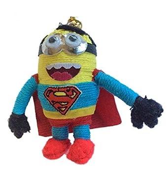 Minion en disfraz de Superman vudú muñeca de cuerda llavero ...