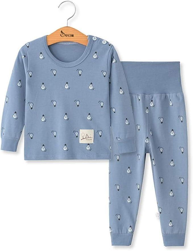 DOTBUY Ensemble de Pyjama B/éb/é Enfants Filles Gar/çons Pyjamas Set 2 pi/èces 100/% Coton Top Manches Longues Taille Haute Pantalon Hiver Chaud V/êtements De Nuit
