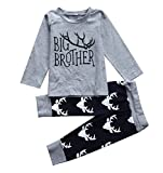 Boys Big Brother T Shirt Match Little Brother Baby Bodysuits Deer Pants Xmas - Best Reviews Guide