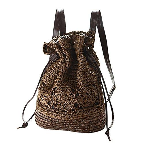 Tissage Crochet Vintage Mackur de Cordon Sac Serrage Paille nTH7qw