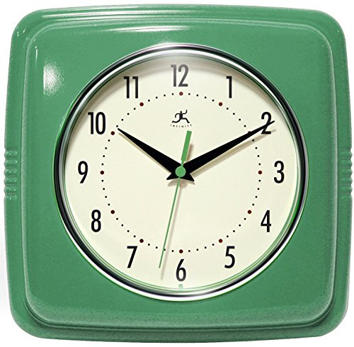Infinity Instruments Square Clock, Green