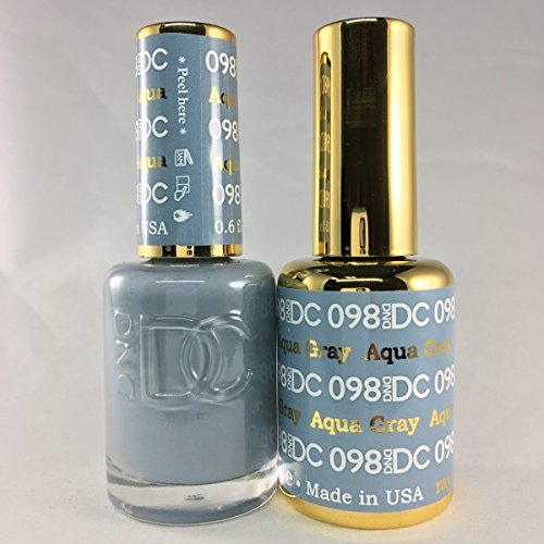 DND DC Duo Gel + Polish - 098 Aqua Gray