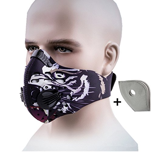 Activated Carbon Dustproof Mask Face Mask Filtration Exhaust Gas Anti Pollen Allergy PM2.5 Dust Mask Filter for Running Cycling and Other Outdoor Activities