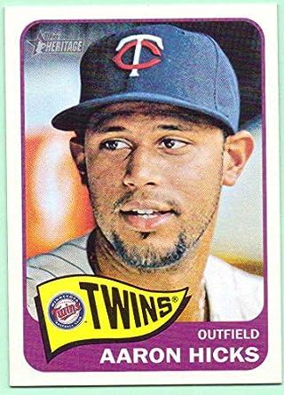 Verzamelkaarten: sport 2013 Topps Emerald Foil #346 Aaron Hicks Minnesota Twins Rookie Baseball Card