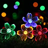 23Ft 50LED Solar Powered String Lights Outdoor,GreenClick Multi-Color Fairy Flower Solar Lights Waterproof Decorative Lighting for Patio,Gardens, Lawn, Yard Home Wedding Party