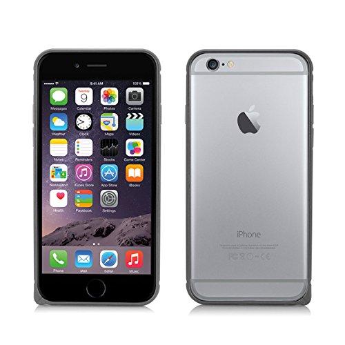 Alienwork Schutzhülle für iPhone 6 plus Ultra-flach Hülle Case Bumper Aluminium grau AP6P01-05