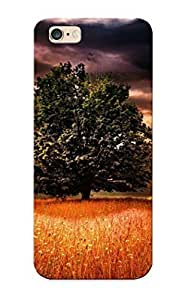 Hot Snap-on Landscapes Nature Trees Fields Wheat Grass Skies Clouds Sunlight Sunbeams Manipulation Hard Cover Case/ Protective Case For Iphone 6 Plus