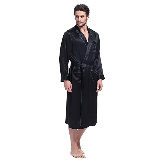 ac4db95a70 LILYSILK 100 Pure Silk Pyjamas for Men Set Long Sleepwear Pyjama Set 16 Momme  Mulberry Silk
