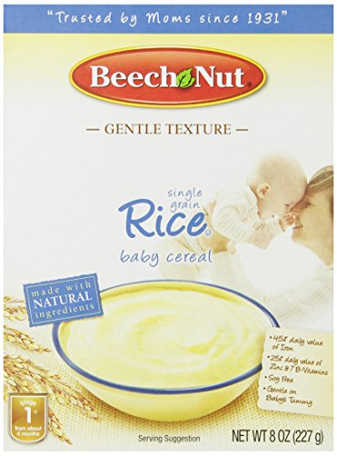 Beech Nut Single Grain Rice Baby Cereal, 8 oz (Pack of 4)