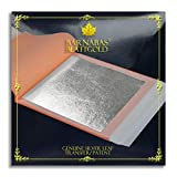 "Barnabas Blattgold - Genuine Silver Leaf Sheets, Professional Quality Booklets (Transfer, 3.75"", 25 Sheets, Silver)"