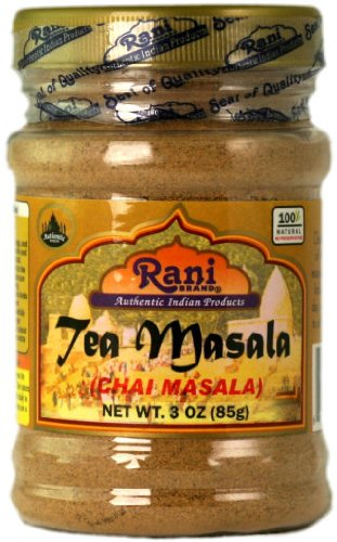 Rani Natural Tea (Chai) Masala Indian Spice Blend 3oz (85g) ~ All Natural | Vegan | Gluten Free Ingredients | Salt & Sugar Free | NON-GMO