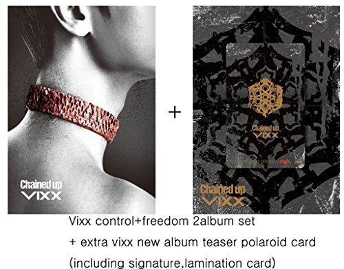 Vixx Vol. 2 - Chained up (Control+freedom Version 2album set) [+official poster 1pcs][+Vixx autograph photo 2pcs][+Vixx teaser polaroid card 2pcs][+Vixx plastic card][+Vixx postcard][+Vixx sticker] (Control Plastic Version)