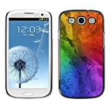 LASTONE PHONE CASE / Slim Protector Hard Shell Cover Case for Samsung Galaxy S3 I9300 / Messy Rainbow Colorful Blue