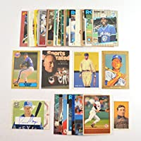 50 Baseball Trading Cards Grand Slam Package - Old School Players Including Mickey Mantle, Babe Ruth, Honus Wagner T-206 Reprint, Cal Ripken, Nolan Ryan, and a Insert Card!