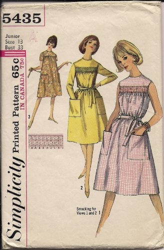 Amazon.com: Vintage Sewing Patterns Simplicity 1964 year Dress ...
